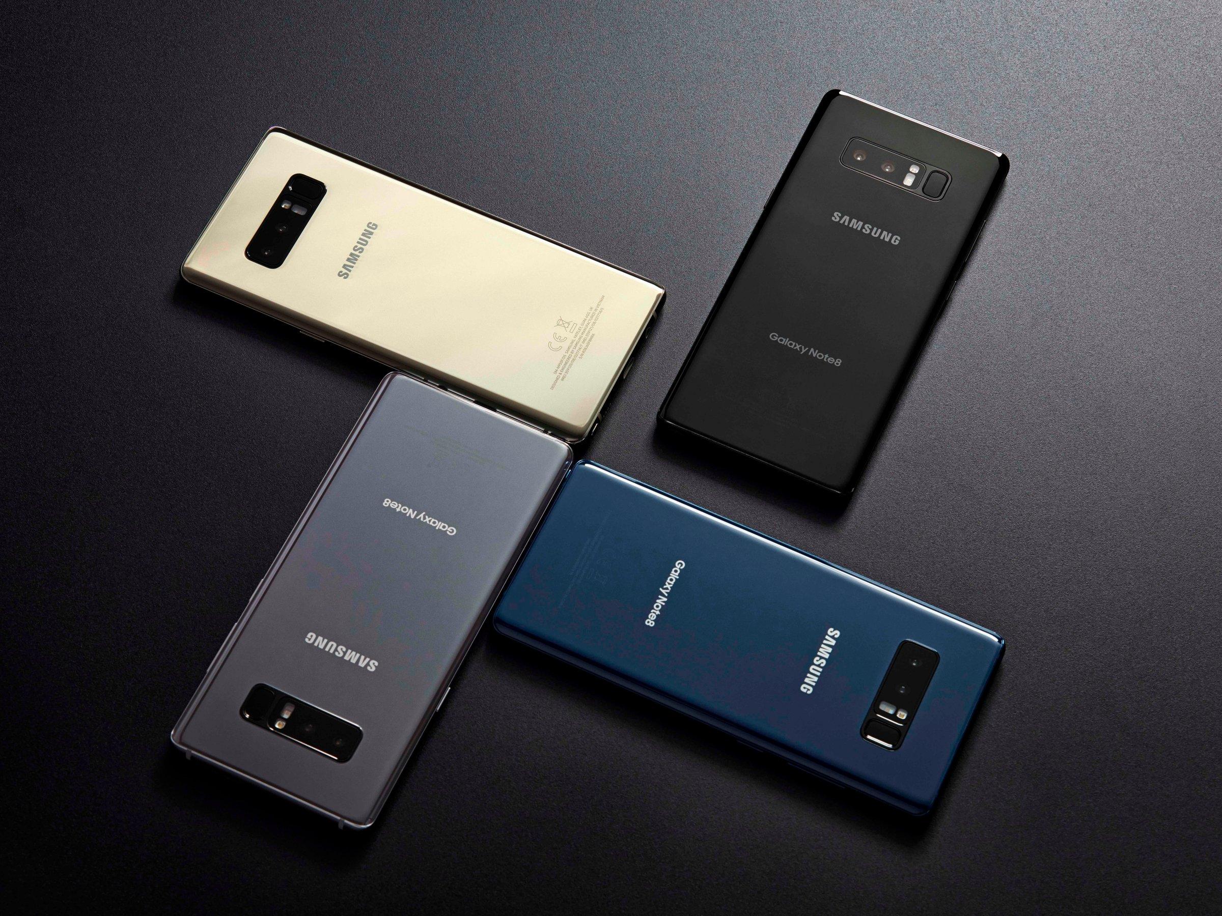 Empat warna Galaxy Note 8