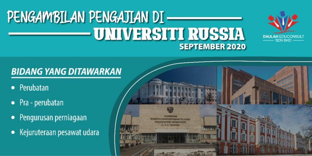 Rusia Tawar Pengajian Bidang Perubatan Di Universiti Terbaik